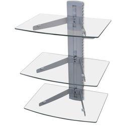 vidaXL Trój poziomowa szklana półka mocowana do ściany na DVD Darmowa wysyłka i zwroty