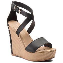 4279d4c9567fcf ... Sandały TOMMY HILFIGER - Feminine Wedge Sandal Stars Studs FW0FW02236 Black  990 cost charm 35e73 07de9 ...
