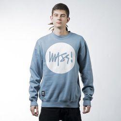 Mass Denim sweatshirt bluza Signature crewneck steel blue - steel blue