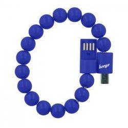Kabel bransoletka beeyo micro USB granatowa