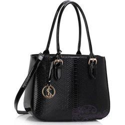 Czarna lakierowana torebka damska - czarny 20% Różne torebki (-20%)