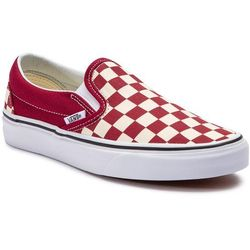 Tenisówki VANS - Classic Slip-On VN0A38F7VLW1 (Checkerboard) Rumba Red