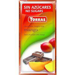 Czekolada gorzka z mango, bez cukru, bezglutenowa - 75g , Torras