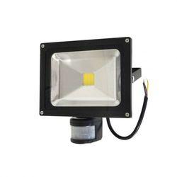 Lampa zew. LED ART,20W,IP65, AC80-265V,black, 4000K-white, sensor PROJEKTOR 20W LED SENSOR B. ZIMNY 1800lm ART