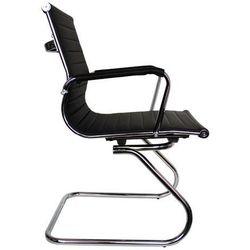 Designerskie krzesło w stylu loft chrom + ekoskóra Loftherapy Nickel Lofty Black