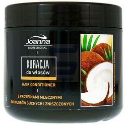 JOANNA PROFESJONALNA maska Kuracja do włosów suchych i zniszczonych o zapachu arom. kokosa 500g