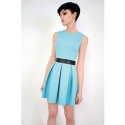 Krótka sukienka bez rękawów Madelaine turkusowa