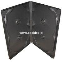 Etui plastikowe na 4DVD 14mm czarne