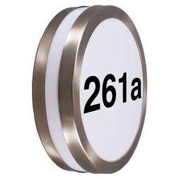 Lampa zewnętrzna Leeds z numerami domu RvS