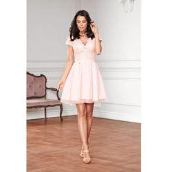 de5df7b33e Koktajlowa sukienka z koronką i tiulem Lottie - łosoś Darmowa dostawa