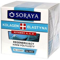 Soraya Kolagen + Elastyna, krem półtłusty z witaminami A i E, 50 ml