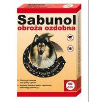 DermaPharm Sabunol Obroża przeciw pchłom dla psa ozdobna czarna 50cm