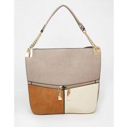 Dune Colour Block Shoulder Bag - Beige