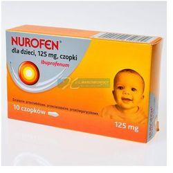 Nurofen dla dzieci 0,125g, 10 czopków doodbytniczych