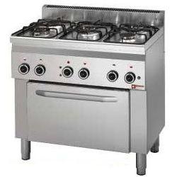 Kuchnia Gazowa 5 Palników Z Piekarnikiem El 4x Gn 11 15500w