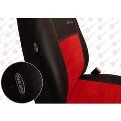POK-TER Skóra Alkantara Czerwone Pokrowce samochodowe BMW Seria 1 E81/E87 2004-2013 - Czerwony