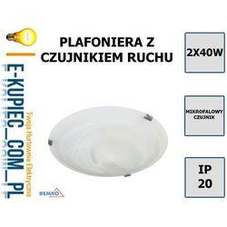 C33-ST78-MG PLAFONIERA TAZAN Z CZUJNIKIEM MIKROFALOWYM 2X40W E27 IP20 FI-40 SZKŁO+STAL