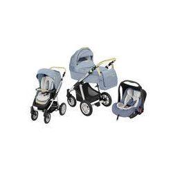 Wózek wielofunkcyjny 3w1 Lupo Dotty + Leo Baby Design (Denim niebieski)