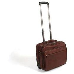 Kabinówka kufer podróżny na kółkach skóra licowa