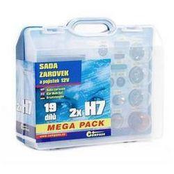 Zestaw Żarówki samochodowe Compass 12 V box MEGA H7+H7+bezpieczniki
