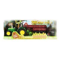 Wielki traktor z przyczepą