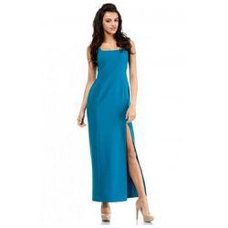 MOE202 sukienka turkusowa