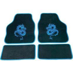 Zestaw wykładzin/dywaników tekstylnych zdobionych cartrend 1400-01 Mystery, niebieskie