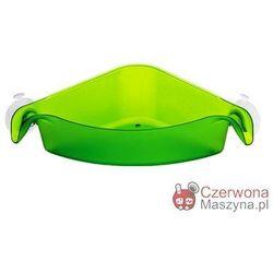 Pojemnik łazienkowy Koziol Boks zielony przezroczysty, narożny