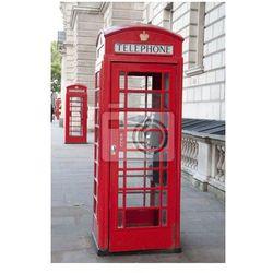 Plakat Dwie czerwone budki telefoniczne, Londyn