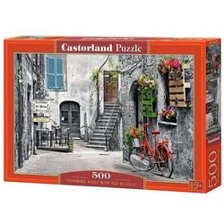 Puzzle Charming Alley with Red Bicycle 500